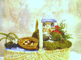 Fairytale Cottage Coastal scene with gourmet snacks