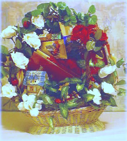 Custom designed romantic gift basket