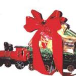 CHRISTMAS TRAIN FILLED WITH GOURMET SNACKS
